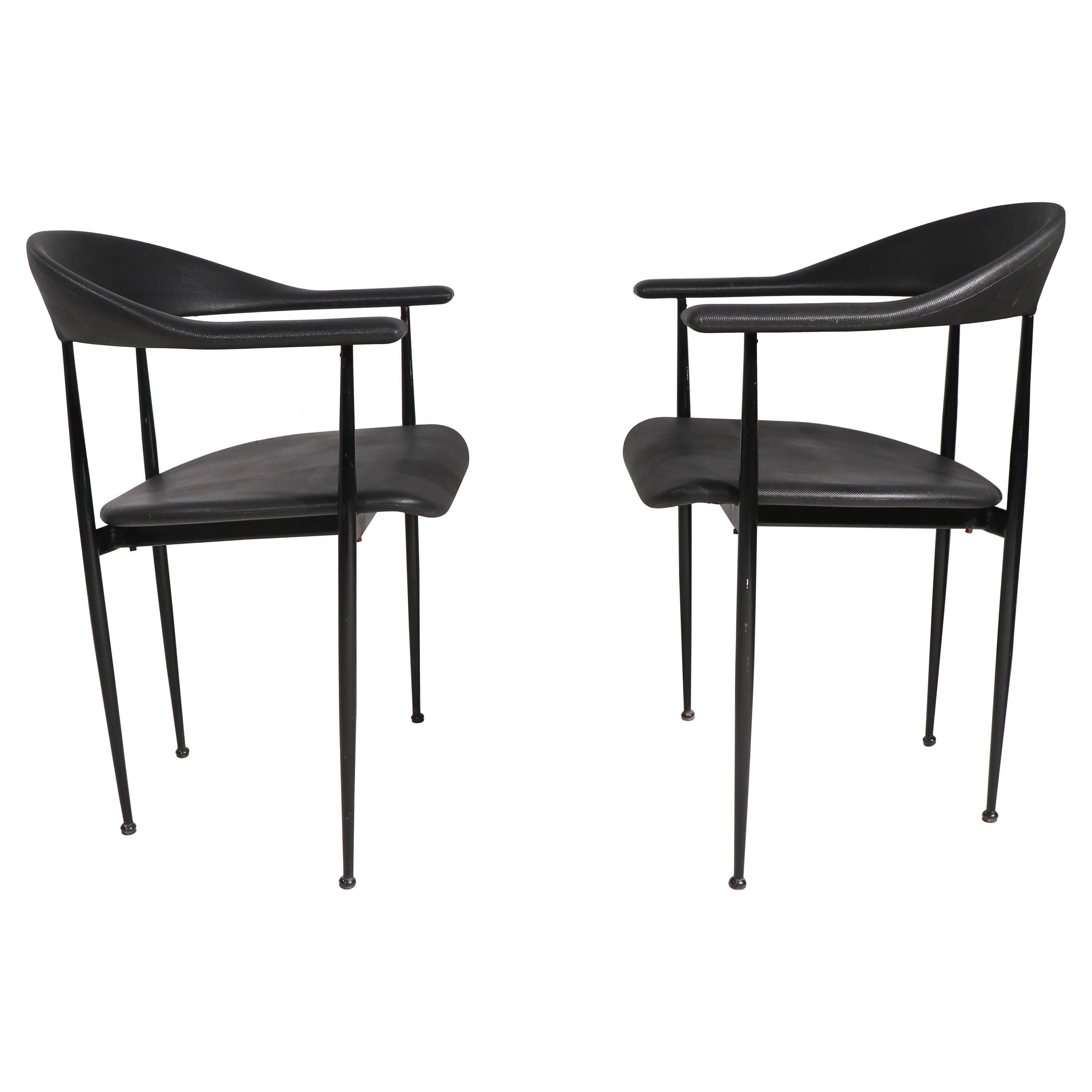 Pr Post Modern Arm Lounge Chairs Retailed by Conrans Habitat NYC