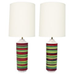 Italian Ceramic Lamps by Alvino Bagni for Bagni Ceramiche