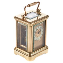 Miniature Lacquered Brass Cased Carriage Clock
