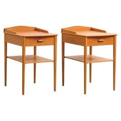 Oak Bedside Tables from AB Erik Andersson & Co, Set of 2