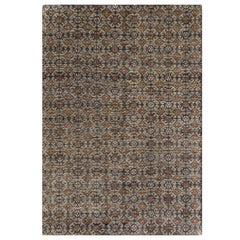Hand Knotted Hidraulic Small Rug in Multi Color by GAN