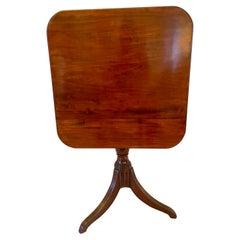 Antique Mahogany Regency Tripod Table