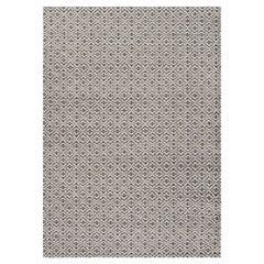 Bari Large Wool Rug in Grey by Gan