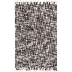 Lama Small Wool Rug in Grey by GAN