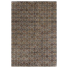 Hand Knotted Hidraulic Large Rug in Multi Color by GAN