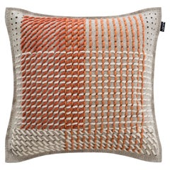 GAN Spaces Canevas Geo Small Pillow in Coral by Charlotte Lancelot