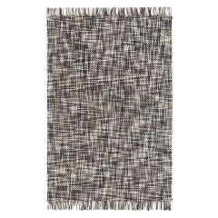 Lama Large Wool Rug in Grey by GAN