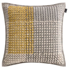 GAN Spaces Canevas Geo Small Pillow in Grey by Charlotte Lancelot