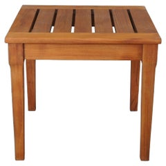 Restoration Hardware Indoor Outdoor Slatted Patio Side End Accent Table