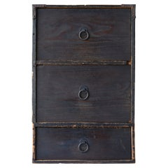 Japanese Antique Drawer 1860s-1920s/Tansu Chest of Drawers Cabinet Wabisabi Art