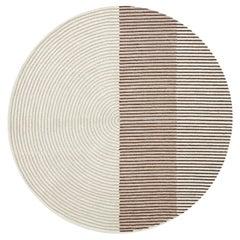 Gan Ply Round Wool Rug in Pink by Mut Design