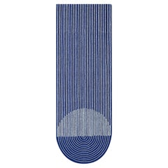 GAN Ply Small Wool Rug in Blue by MUT Design