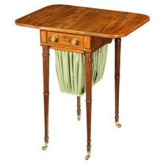 Elegant George III Mahogany Pembroke Sewing Table