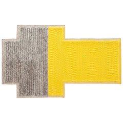 GAN Mangas Space Small Rectangular Rug Plait in Yellow by Patricia Urquiola