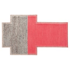 GAN Mangas Space Small Rectangular Rug Plait in Coral by Patricia Urquiola
