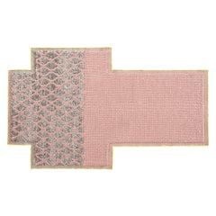 GAN Mangas Space Small Rectangular Rug Rhombus in Pink by Patricia Urquiola