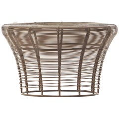 GAN Rugs Aram Low Stool with Stainless Steel Wire in Bronze by Nendo