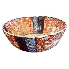 Antique Scalloped Shaped Imari Bowl