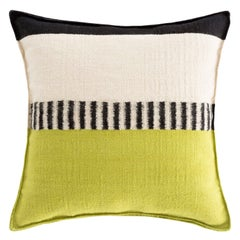 GAN Spaces Rustic Chic Geo Small Pillow in Pistachio by Sandra Figuerola