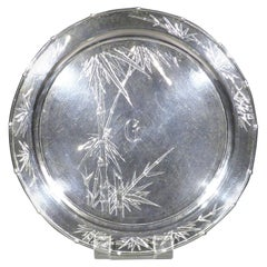 Large Early 20th Century Chinese Export Silver Tray / Salver, Circa 1900