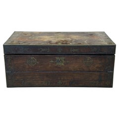 Antique 19th Century English Regency Rosewood Writing Slope Box Campaign Chest