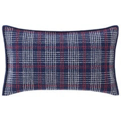 GAN Spaces Lan Small Cushion with Wool in Indigo by Neri&Hu