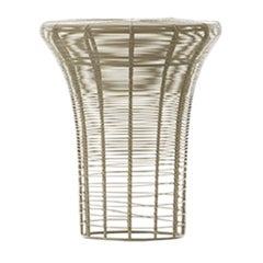 GAN Rugs Aram High Stool with Stainless Steel Wire in Sand by Nendo