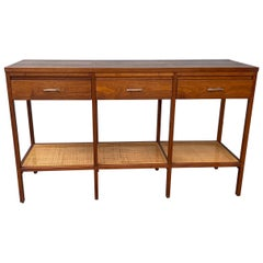 Stunning Rosewood and Cane Console Table, Paul McCobb for Lane / Delineator