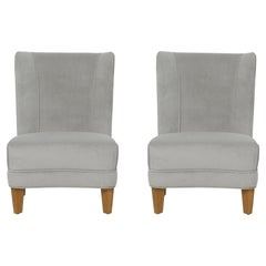 Pair of Edward Wormley for Dunbar Slipper Lounge Chairs