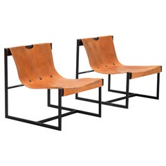 Julio Roberto Katinsky Sling Chairs, Brazil, 1959