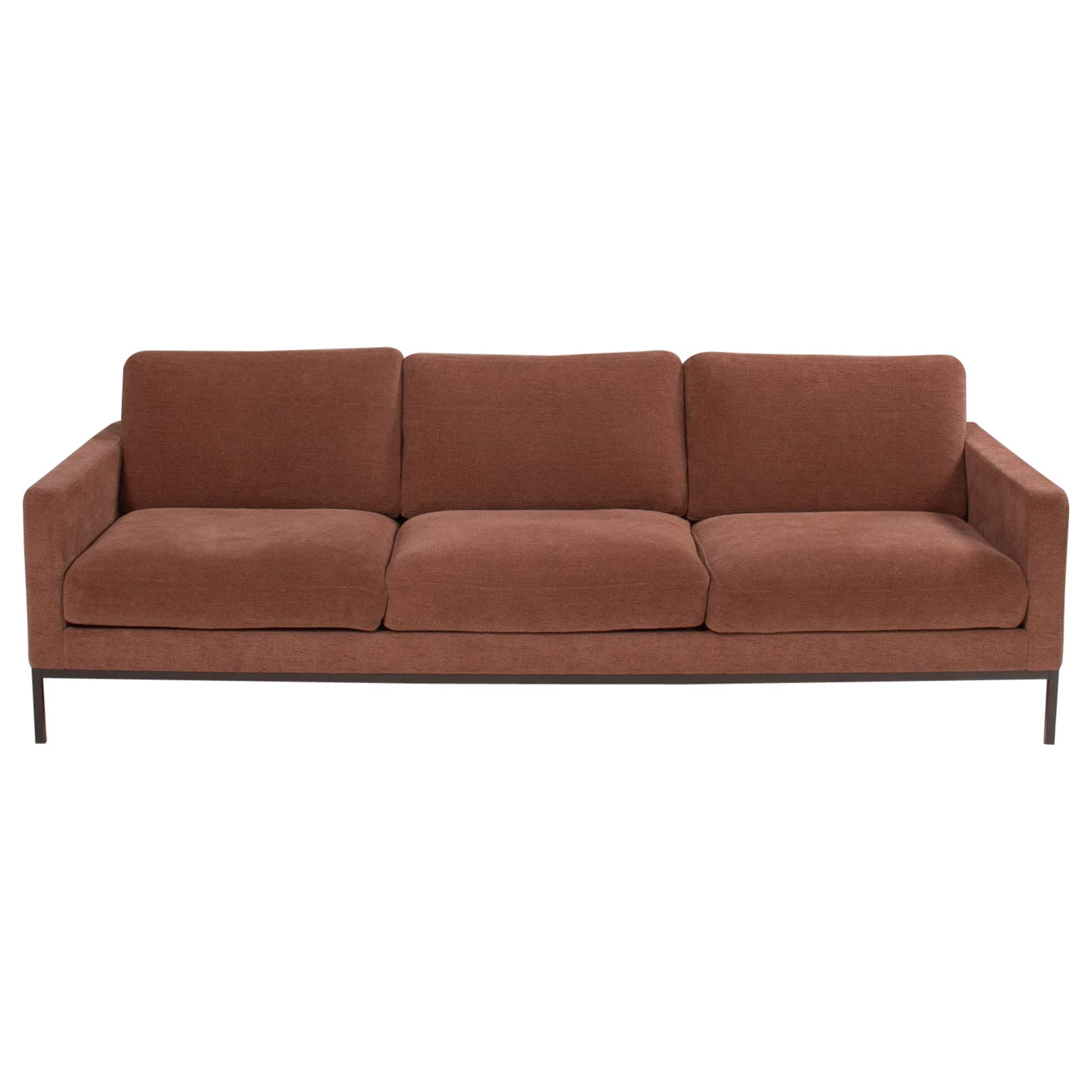 Florence Knoll for Knoll Dusky Pink Fabric Relax Sofa