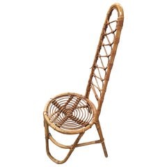 Mid-Century Modern Bamboo and Rattan Chair on the French Riviera, 1960s