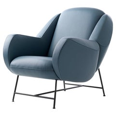 Anton Armchair by Leolux in Blue Genuine Leather