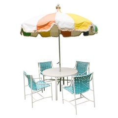 1960s Tropitone Umbrella Table and Chairs