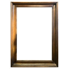 Extra Large Brown Walnut Wood Frame, France, 19th Century