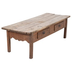 19thC Large Provincial Spanish Oak Coffee Table