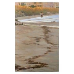 """Oil on Canvas """"Children Walking on the Beach"""" by Mary Segars"""