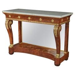 Fine Russian Empire Ormolu-Mounted Mahogany Console Table, Circa 1815