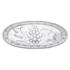 Tuthill Cut Glass Celery Tray