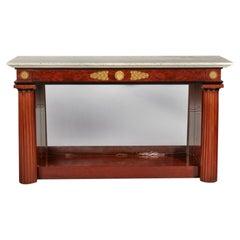 Russian Empire Ormolu-Mounted Mahogany Console Table Cupboard, Circa 1825
