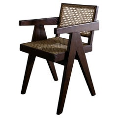 """Pierre Jeanneret Teak Mid-Century """"Office Chair"""" for Chandigarh, India, 1950s"""