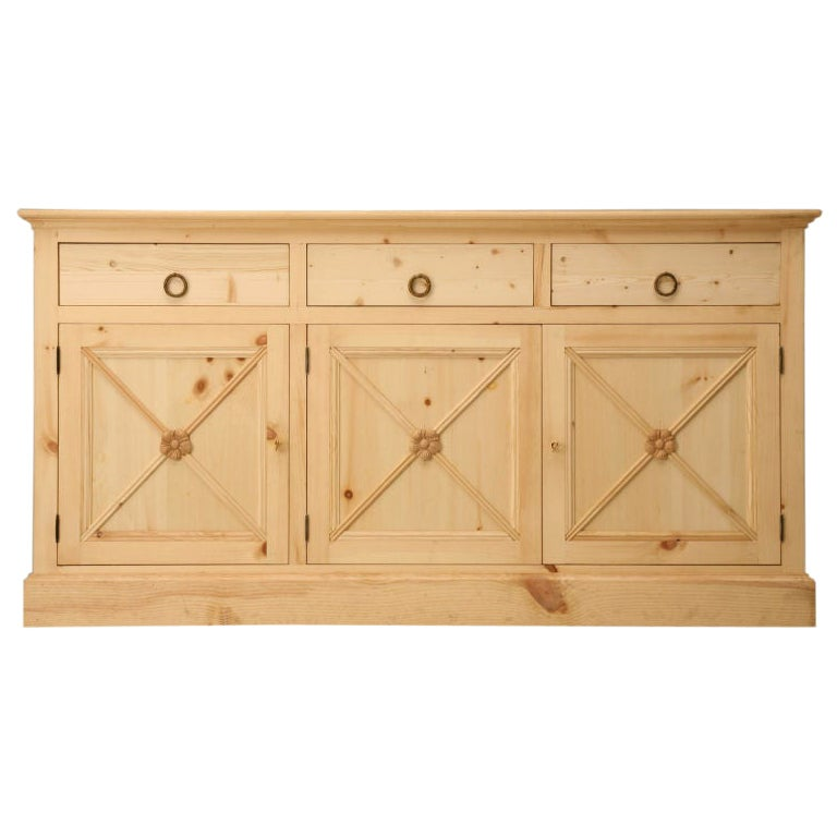 Custom Hand-Made Directoire Style Buffet by Old Plank Available in Any Dimension