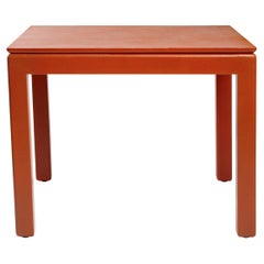 Karl Springer Leather-Clad Table
