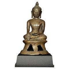 14\15thC Burmese Pinya Style, Very Rare Type of Burmese Buddha