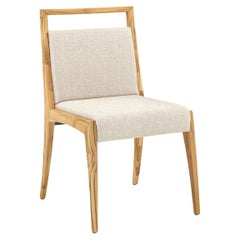 Sotto Dining Chair with Open Top Rail in Teak Finish
