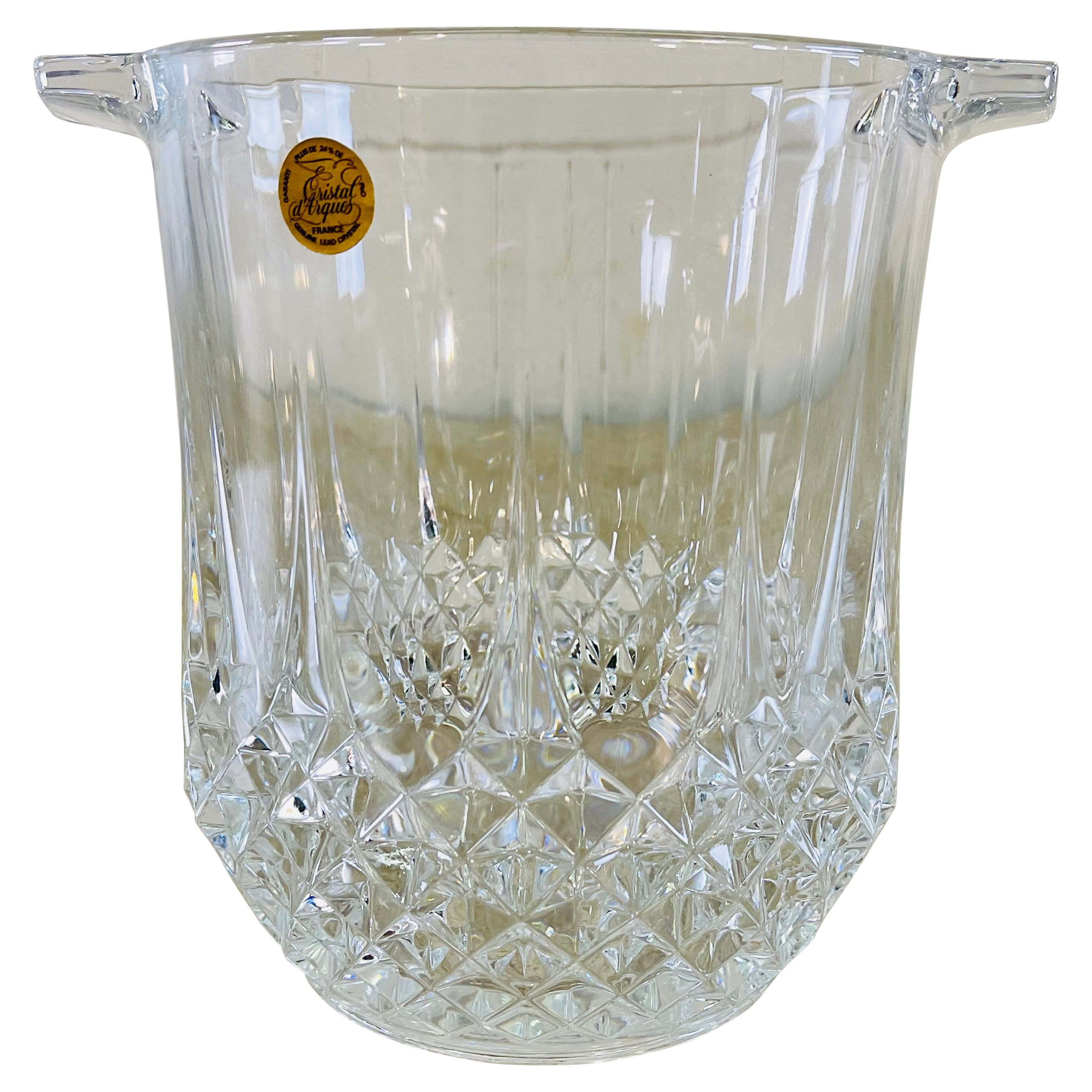 French Glass Crystal Ice Bucket