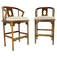 Pair of Ming Barstools