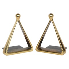 Jenfred Ware Triangle Bookends by Ben Seibel for Raymor