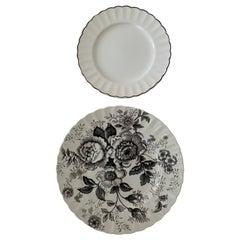 Ralph Lauren Morning Garden & Black Dinnerware Set ~ 16 Pieces