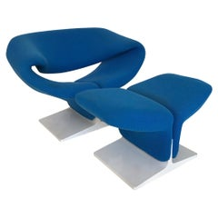 Ribbon Chair and Ottoman by Pierre Paulin for Artifort